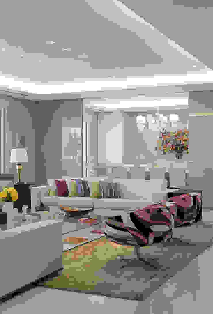 Apartamento Higienópolis 2 Salas de estar modernas por Marcelo Rosset Arquitetura Moderno