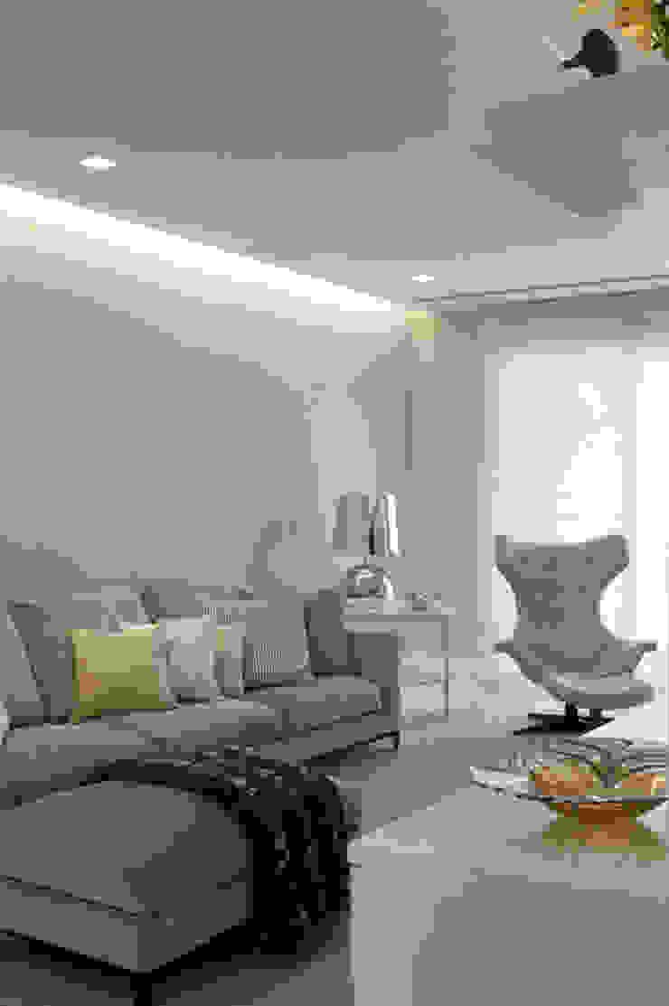Apartamento Higienópolis 2 Salas multimídia modernas por Marcelo Rosset Arquitetura Moderno