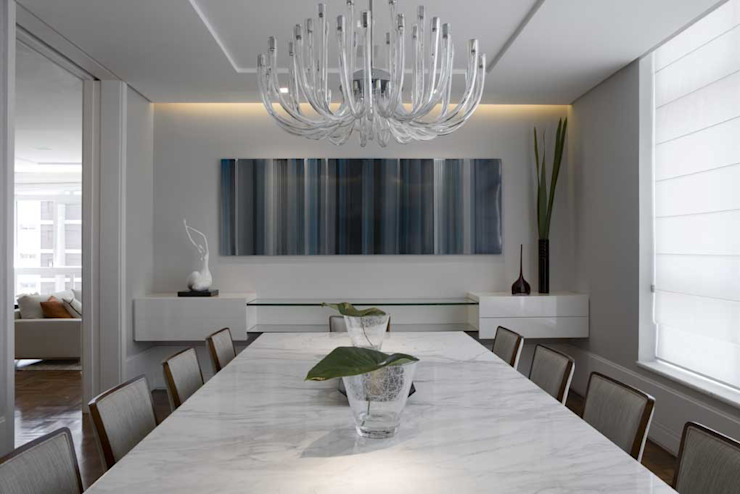Apartamento Higienópolis 3 Salas de jantar modernas por Marcelo Rosset Arquitetura Moderno