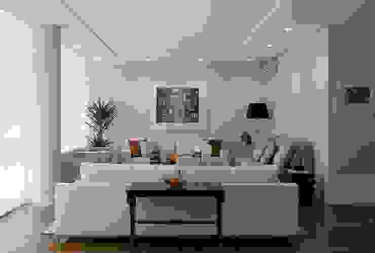 Apartamento Higienópolis 3 Salas de estar modernas por Marcelo Rosset Arquitetura Moderno