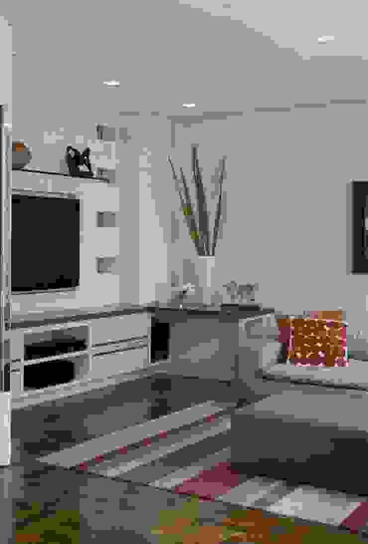 Apartamento Higienópolis 3 Salas multimídia modernas por Marcelo Rosset Arquitetura Moderno