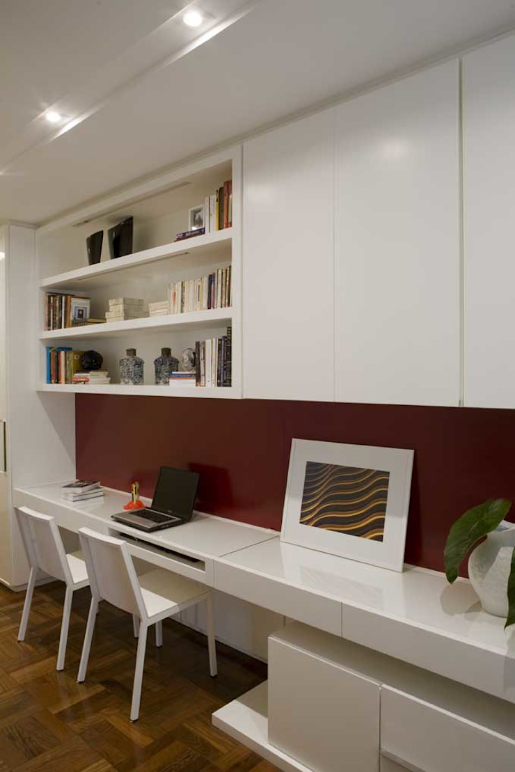 Apartamento Higienópolis 3 Escritórios modernos por Marcelo Rosset Arquitetura Moderno