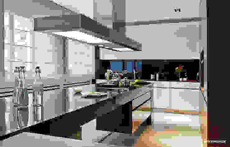 Cuisine moderne par Bartek Włodarczyk Architekt Moderne