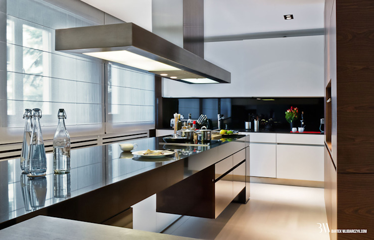 Cocinas de estilo moderno de Bartek Włodarczyk Architekt Moderno