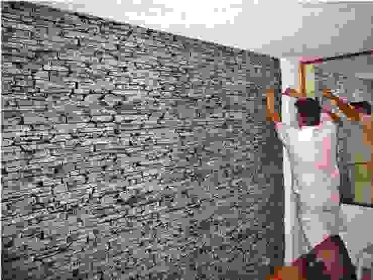 Dinding oleh homify, Klasik Serat Alami Beige