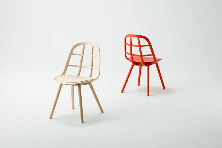 Nadia Chair :Hard Maple Red, Hard Maple Natural: MEETEE  株式会社松創が手掛けたスカンジナビアです。,北欧 木 木目調