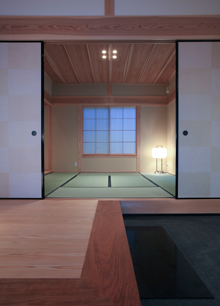 higashinagato house 和風の 玄関&廊下&階段 の 髙岡建築研究室 和風