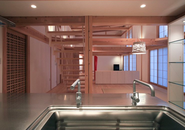 higashinagato house 和風の キッチン の 髙岡建築研究室 和風