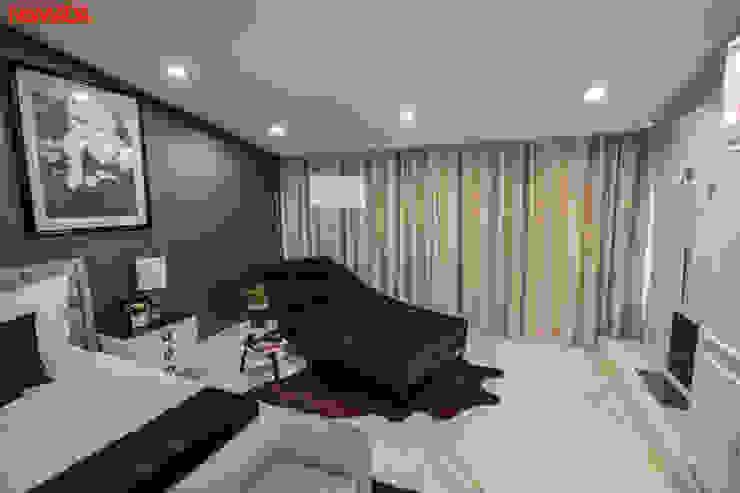 Casa Bosques de las Lomas, México Distrito Federal Dormitorios modernos de Nómada Studio Moderno Textil Ámbar/Dorado