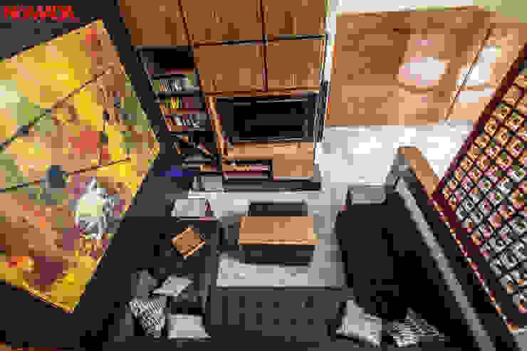 Casa Bosques de las Lomas, México Distrito Federal Salones modernos de Nómada Studio Moderno Madera Acabado en madera