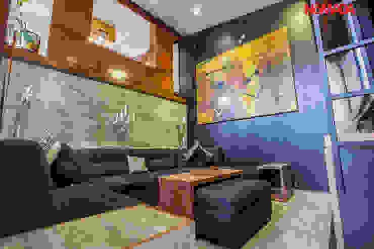 Moderne Wohnzimmer von Nómada Studio Modern Holz Holznachbildung