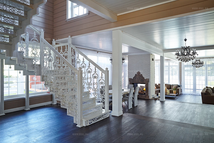 Classic style corridor, hallway and stairs by ODEL Classic Iron/Steel
