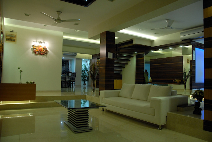 INTERIOR DESIGNERS IN KHARGHAR Modern dining room by DELECON DESIGN COMPANY Modern Plywood