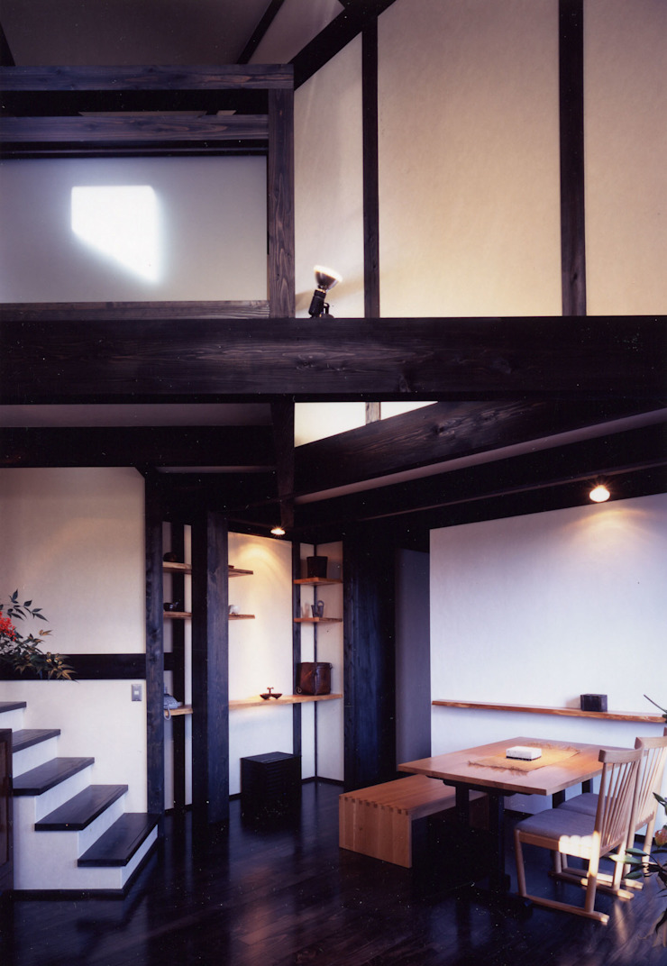 misawa house 和風デザインの ダイニング の 髙岡建築研究室 和風