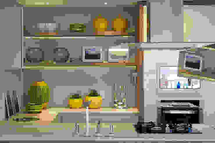 Amanda Carvalho - arquitetura e interiores 現代廚房設計點子、靈感&圖片