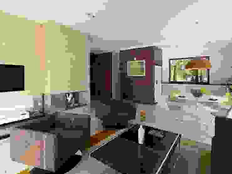 Salas de estar modernas por Biuro Projektów MTM Styl - domywstylu.pl Moderno