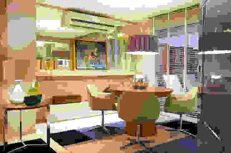 Apartamento DT Salas de estar modernas por Amanda Carvalho - arquitetura e interiores Moderno
