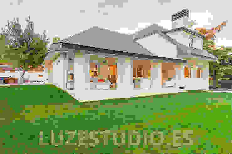 Fotografía chalet Conde de Orgaz Casas de estilo moderno de Luzestudio - Fotografía de arquitectura e interiores Moderno