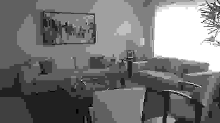 La sala, la sala de TV y la recamara del bebe Dormitorios modernos de Paola Hernandez Studio Comfort Design Moderno