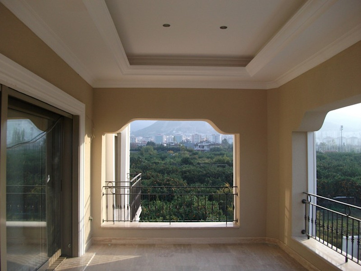 İbrahim S. Malikanesi Modern Balkon, Veranda & Teras AÇIT MİMARLIK DEKORASYON İNŞ. SAN. TİC. LTD. Modern