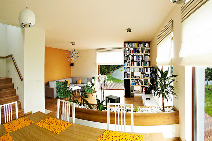 Salones modernos de Biuro Projektów MTM Styl - domywstylu.pl Moderno