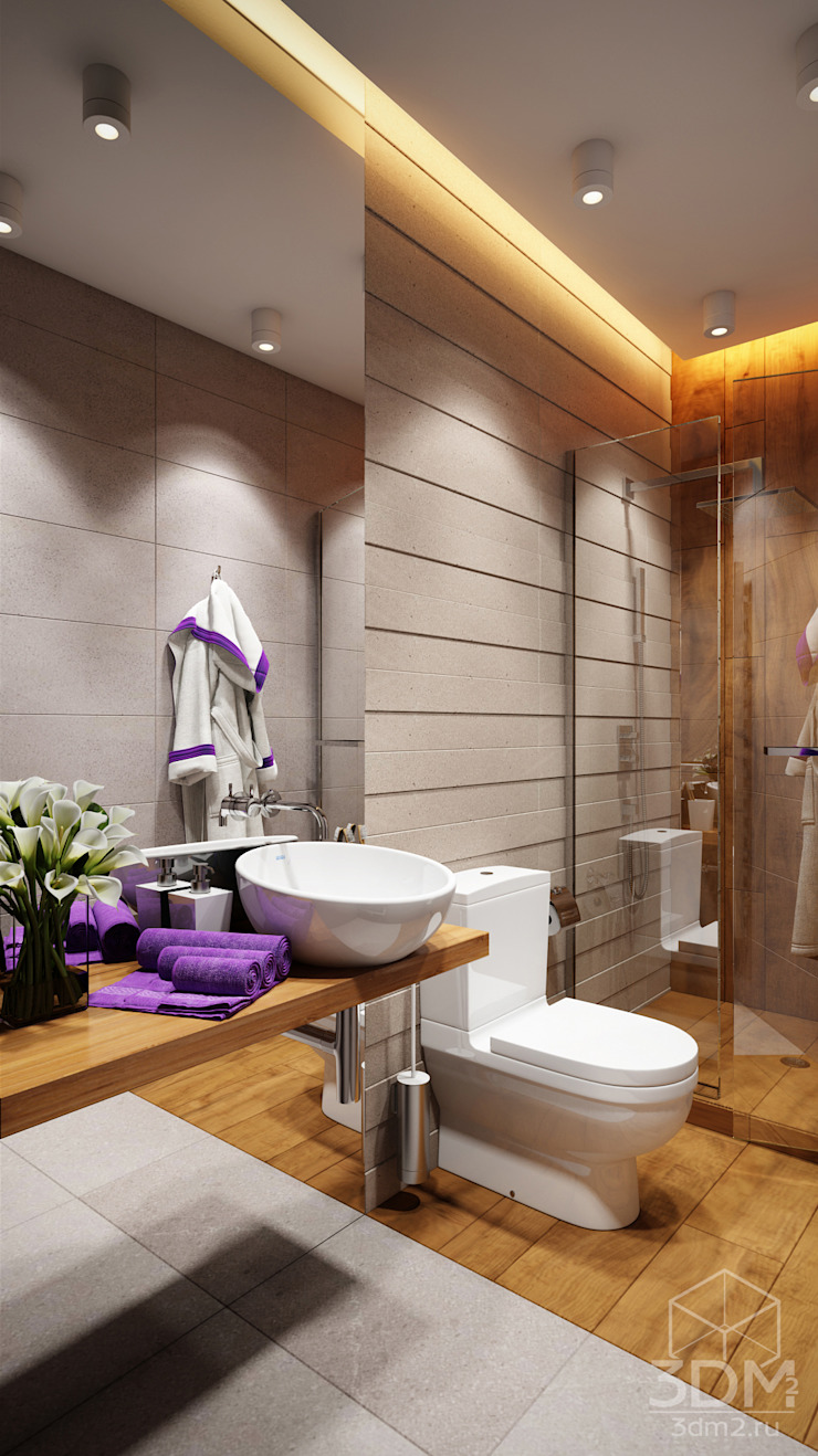Minimalist style bathroom by студия визуализации и дизайна интерьера '3dm2' Minimalist