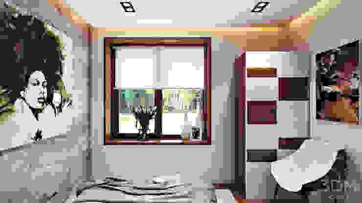Проект 004: Спальня Спальня в стиле минимализм от студия визуализации и дизайна интерьера '3dm2' Минимализм