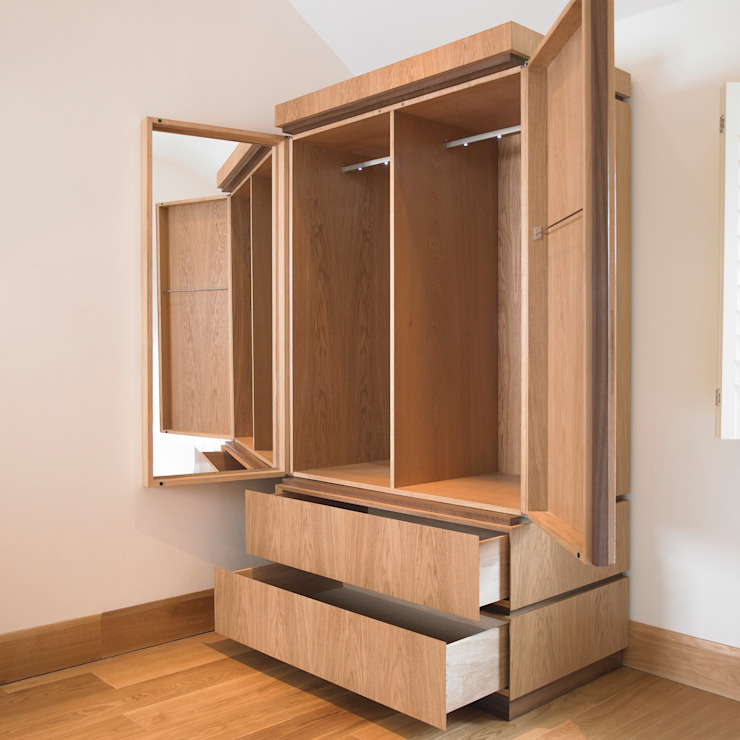 Minimalist wardrobe - interior Chris Tribe Furniture 臥室衣櫥與衣櫃 木頭