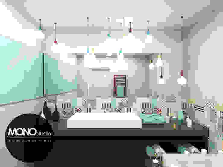 Nowoczesna forma w ekskluzywnym wydaniu i wyjątkowych barwach. Nowoczesna łazienka od MONOstudio Nowoczesny Kompozyt drewna i tworzywa sztucznego