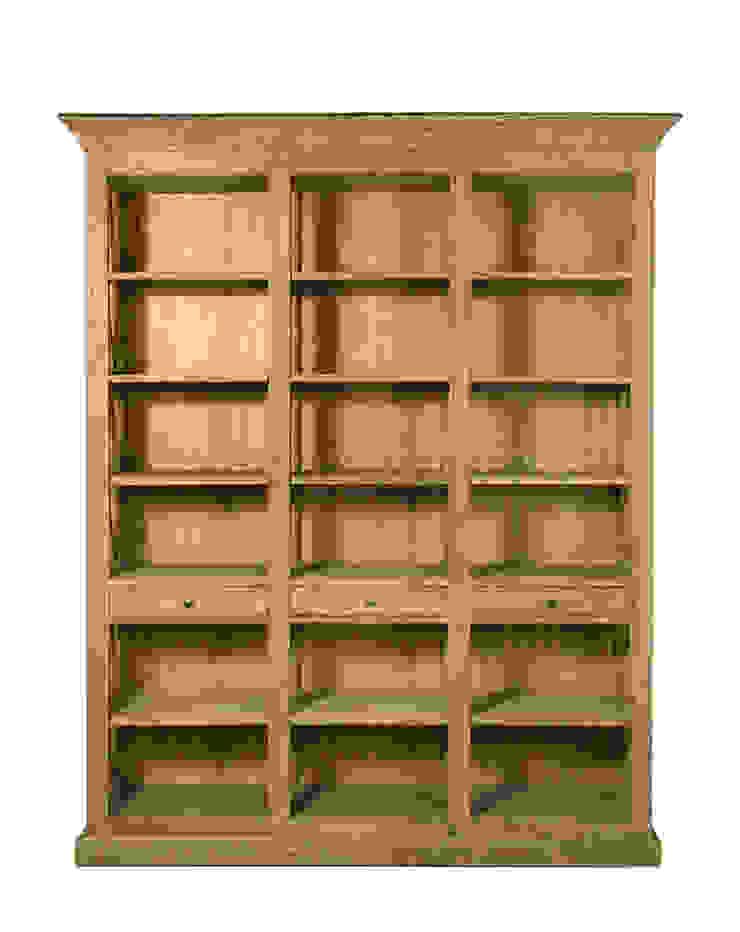 Библиотека Barton Oak Bookcase L033 от LeHome Interiors Кантри Дерево Эффект древесины
