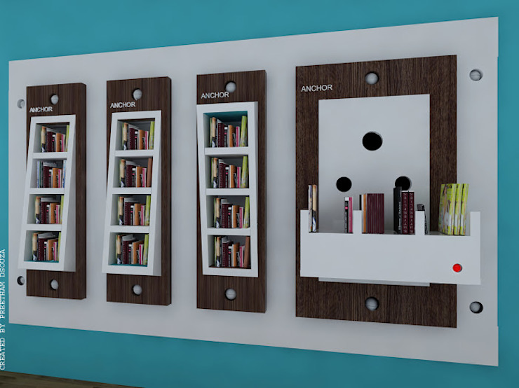 Bookshelves switches Preetham Interior Designer Study/officeStorage White