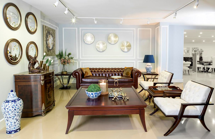 Salones de estilo moderno de AHMET TÜRKMEN MOBİLYA VE DEKORASYON Moderno