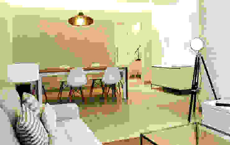 Casa da Barra Salas de estar modernas por blaanc Moderno