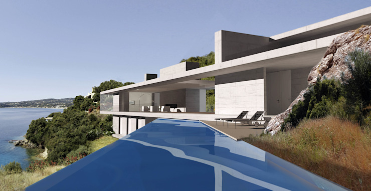 Villa W, GR Mediterrane Pools von buerger katsota zt gmbh Mediterran Stein