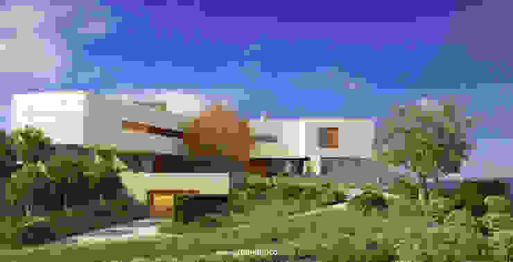 Fachada Norte - Acceso principal TUAN&CO. arquitectura Casas modernas Piedra Beige