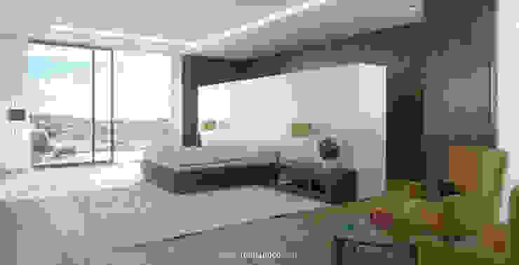 Dormitorio principal Dormitorios de estilo moderno de TUAN&CO. arquitectura Moderno Madera Acabado en madera