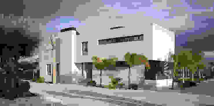 Fachada y urbanización Casas minimalistas de Soler Martínez Minimalista