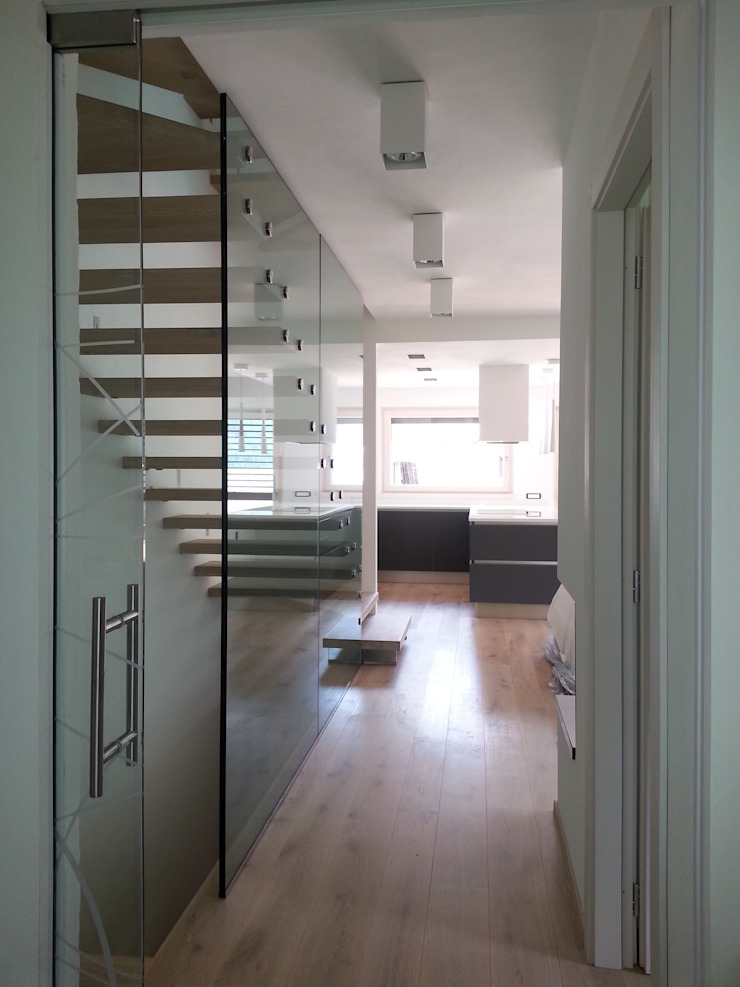 SPEZIALE SCALE Corridor, hallway & stairsStairs Wood