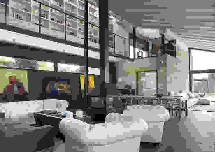 UNIFAMILIAR CERVIA DE TER -GIRONA- Salones de estilo mediterráneo de ARQ.TEC SURIS ASSOCIATS SLP Mediterráneo
