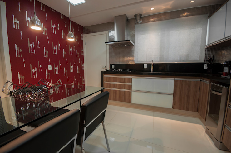 Apartamento Nova Petrópolis - São Bernardo do Campo Cozinhas modernas por Haus Brasil Arquitetura e Interiores Moderno