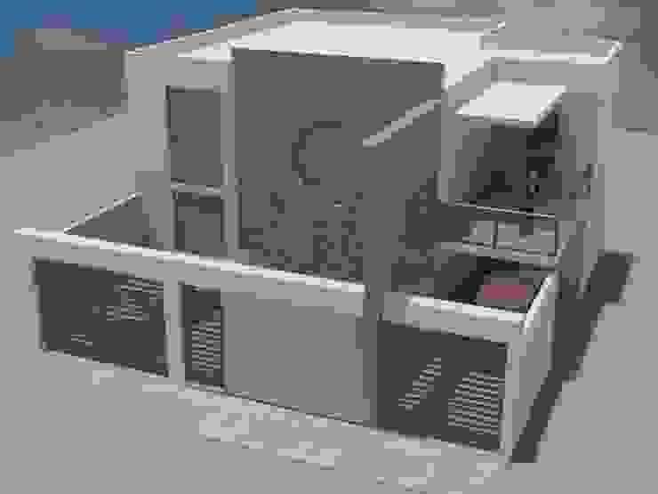 CASA RESIDENCIAL Casas modernas de M4X Moderno Hierro/Acero