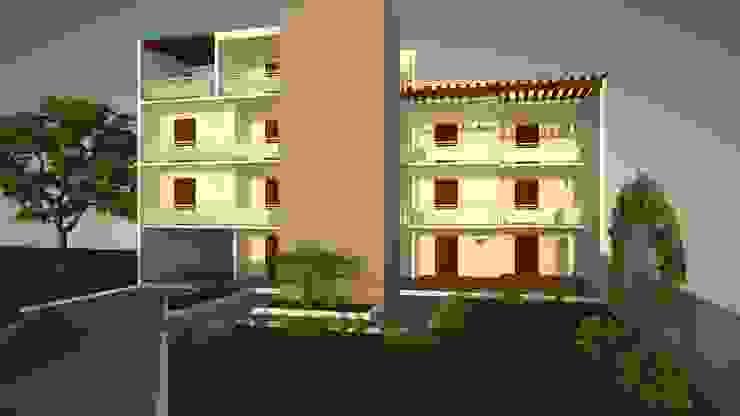HOTEL Casas modernas de M4X Moderno Hierro/Acero