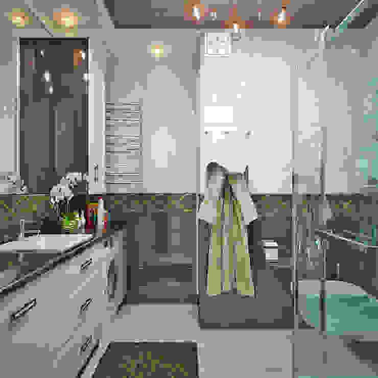 Французский стиль для современной спальни Студия дизайна ROMANIUK DESIGN Ванная комната в стиле модерн