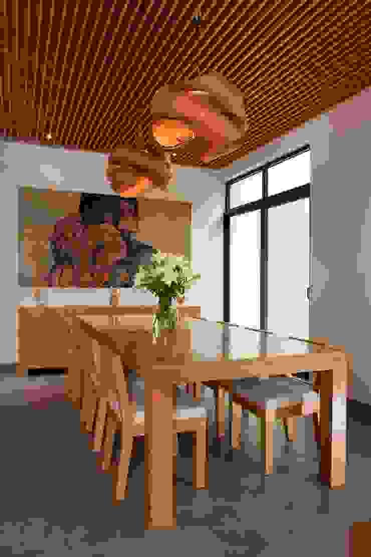 Moderne Esszimmer von LGZ Taller de arquitectura Modern Holz Holznachbildung