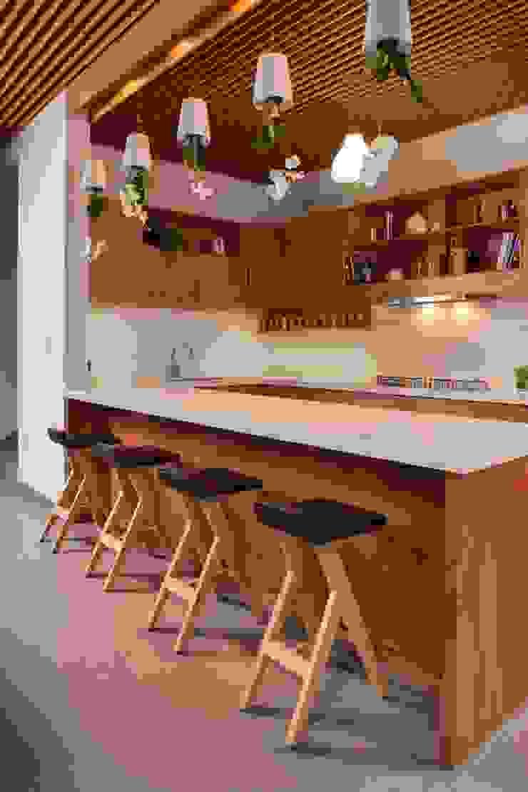 Moderne Küchen von LGZ Taller de arquitectura Modern Holz Holznachbildung