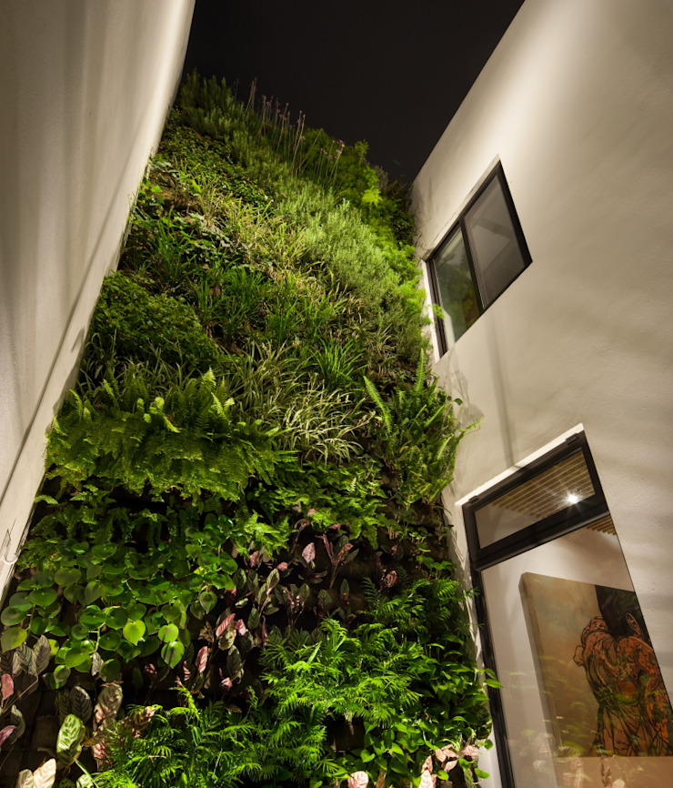 Casa Ming Jardines de estilo moderno de LGZ Taller de arquitectura Moderno Fibra natural Beige