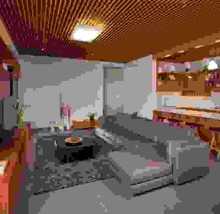 modern  von LGZ Taller de arquitectura, Modern Textil Bernstein/Gold