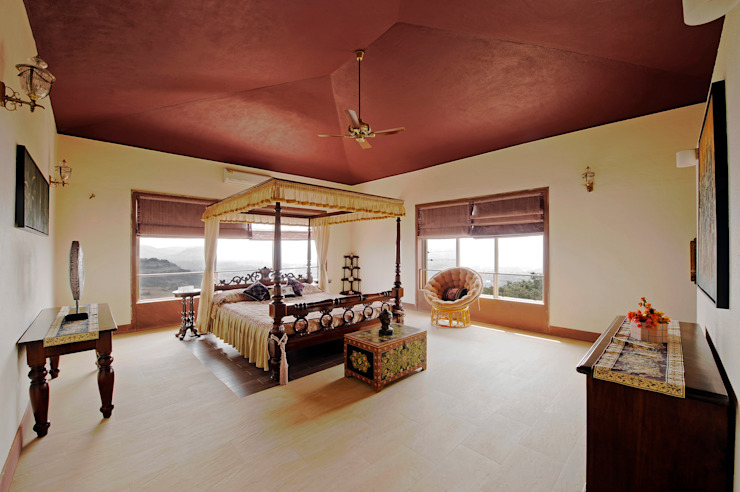 Lonavla Bungalow Asian style bedroom by JAYESH SHAH ARCHITECTS Asian