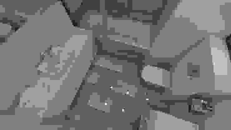 Widok na posadzkę Minimalistyczna łazienka od Katarzyna Wnęk Minimalistyczny