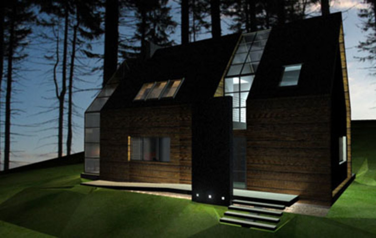 Casas estilo moderno: ideas, arquitectura e imágenes de Piekarek Projekt-Paweł Piekarek Moderno